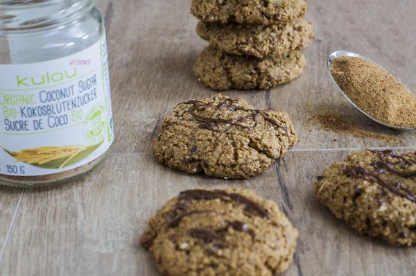 Cookies aus gekeimten Haferflocken